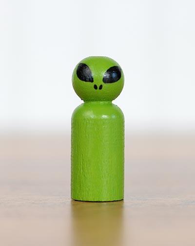 Alien Peg Doll (or Ornament)