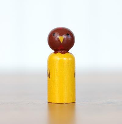 Chicken Mini Peg Doll (or Ornament)