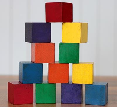 Rainbow Stacking Blocks (Set of 12)