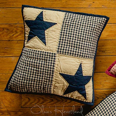 Jamestown Black & Tan Quilted Pillow Cover