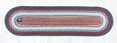 Flag Braided Table Runner - 48 inch