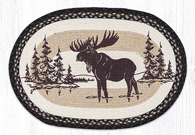 Moose Silhouette 20 x 30 inch Braided Rug