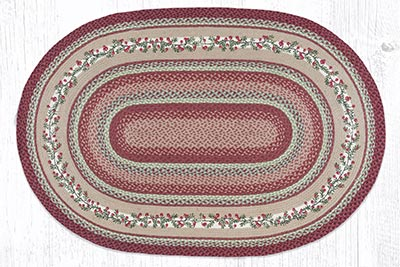 OP-390 Cranberries 4 x 6 foot Braided Rug