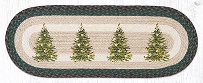 OP-508 Christmas Tree 36 inch Braided Table Runner