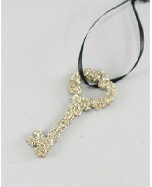 Glitter Key Ornament - Small