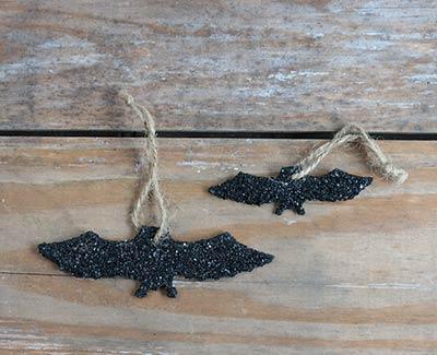 Glittered Bat Ornament