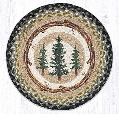 Tall Timbers Round Braided Placemat