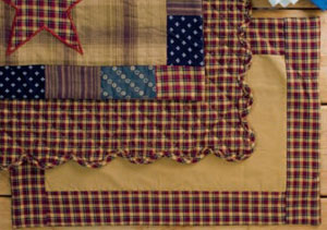 Patriotic Patch Placemats - Non-Quilted (Set of 2)