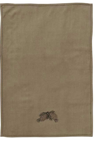 Pine Cone Kitchen Towels and Pot Holder Set (Set of 3)