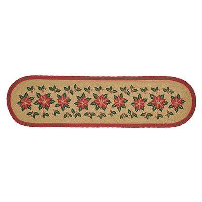 Poinsettia Jute 48 inch Table Runner