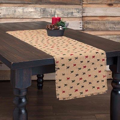 Primitive Star Jute 48 inch Table Runner