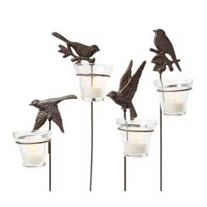 Bird Stake Votive Holder