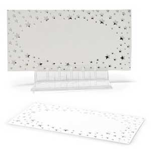 Silver Star Placecards