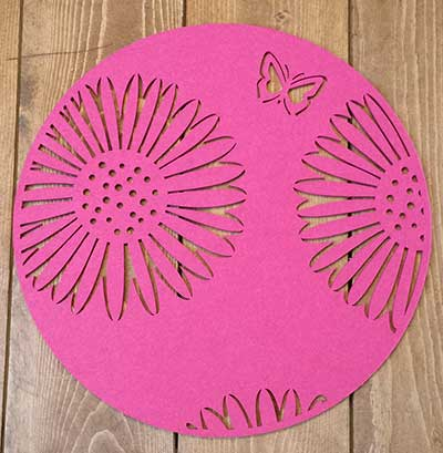 Round Butterfly Placemat - Magenta