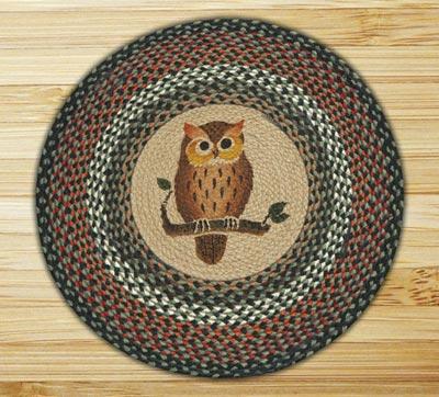 Owl Braided Jute Rug - Round