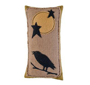 Raven Moon Pillow - Rectangle