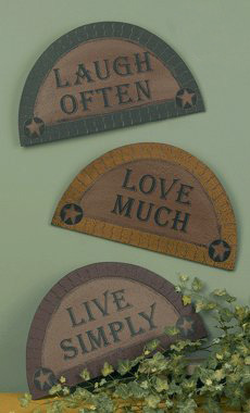 Laugh Often, Love Much, Live Simply