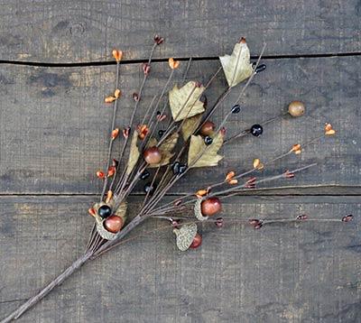 Fall Acorn Floral Pick