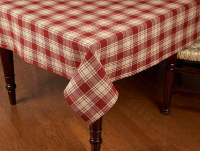 Millbrook Red Tablecloth - 60 x 90 inch