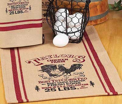 Taylors Chicken Farm Table Runner