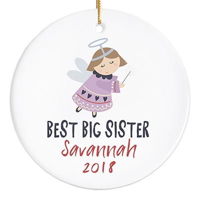 Best Sister Ornament with Angel