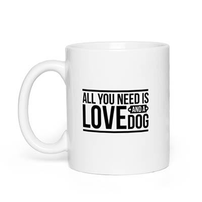Love and a Dog Mug