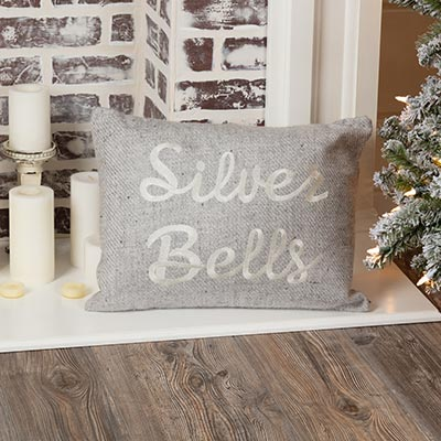 Tinsley Silver Bells Pillow (14x18)