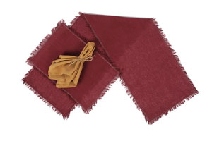 Tobacco Cloth Tablerunner, 36 inch - Merlot