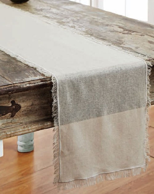 Tobacco Cloth Tablerunner, 48 inch - Natural