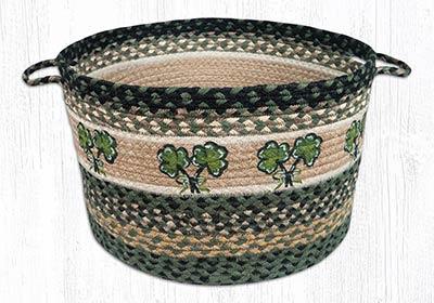 Shamrock Braided Utility Basket - Large