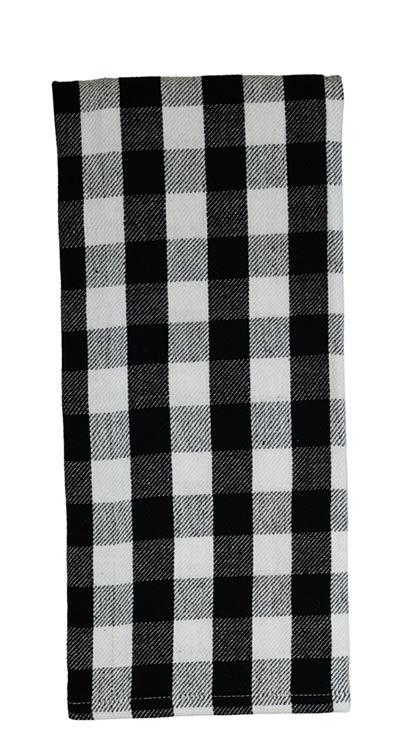 Black & White Buffalo Check Tea Towel