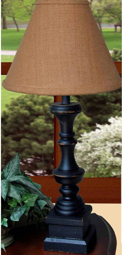 Covington Lamp Base - Black