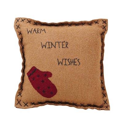 Warm Wishes Felt with Mitten Pillow