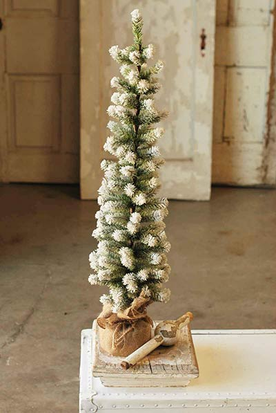 Snow Tipped Pine Tree - 36 inch