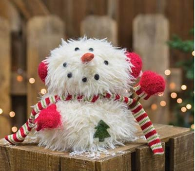 Furry Snowman with Mittens