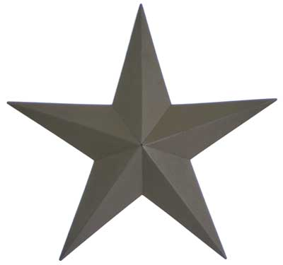 Primitive Wall Star, 18 inch - Green