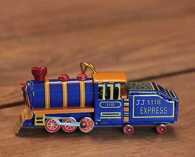 Blue Locomotive Ornament