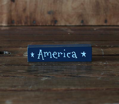 America Mini Stick Shelf Sitter - Blue