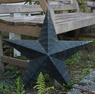 Amish Wall Star, 22 inch (Black)