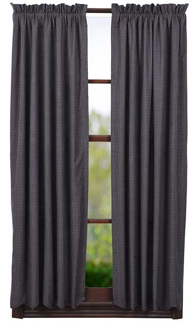 Arlington Panels - 63 inch (Navy Plaid)