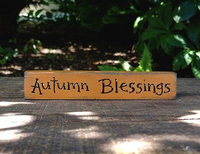 Autumn Blessings Mini Stick Shelf Sitter
