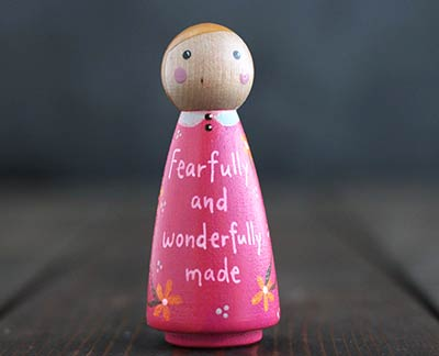 Fearfully and Wonderfully Made Scripture Doll - Pink (or Ornament)