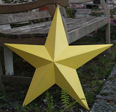 Sun Yellow Barn Star, 24 inch