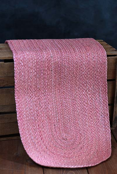 Coral Braided Table Runner, 36 inch