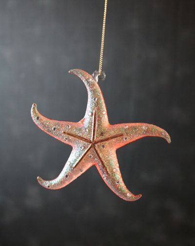 Starfish Ornament - Coral Pink