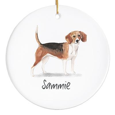 Beagle Personalized Ornament