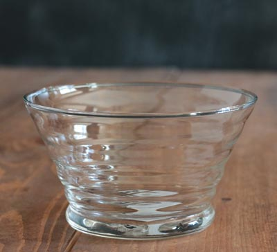 Beehive Glass Prep Bowl - Clear