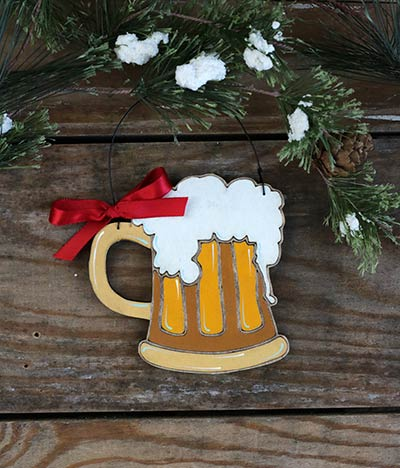 Beer Stein Personalized Ornament