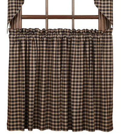 Bingham Star Tier, 36 inch - Plaid (Black, Red, and Tan)