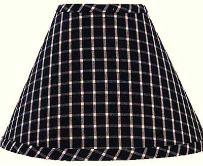Williamsburg Check Black Lampshade - 6 inch